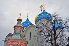 Trinity Sergius Lavra in Russia. Dormition cathedral Stock Image