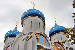 Trinity Sergius Lavra in Russia. Dormition church Stock Images