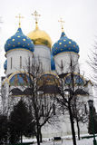 Trinity Sergius Lavra in Russia. Dormition church Royalty Free Stock Photography