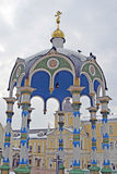 Trinity Sergius Lavra in Russia. Holy spring sourse Stock Photography