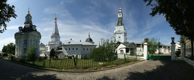 Trinity Sergius Lavra in Sergiev Posad. Ppanorama Stock Photos