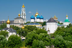 Trinity Sergius Lavra in Sergiev Posad, Russia. The great monastery in Sergiev Posad near Moscow, Russia, 2011 Royalty Free Stock Image