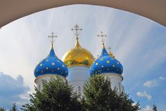 Trinity Sergius Lavra, Sergiev Posad, Russia. UNESCO World Herit Royalty Free Stock Photo