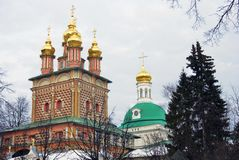 Trinity Sergius Lavra in Sergiyev Posad, Moscow region, Russia. Stock Images