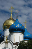 Trinity-Serguis Lavra. Domes of the Cathedral of the Assumption of the Trinity-Sergius Lavra (monastery) in Sergiev Posad near Moscow. This cathedral was built Stock Images
