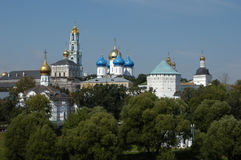 Trinity-Serguis Lavra. The Trinity-Sergius Lavra, one of the greatest Russian monasteries, in Sergiev Posad near Moscow. The tomb of Russian tsar Boris Godunov Stock Photos