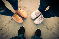Trinity of shoes Royalty Free Stock Photography