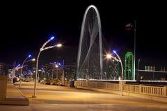 Trinity sky bridge in downtown Dallas, Texas Stock Photos