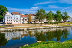 Trinity suburb - old historic centre of Minsk, Belarus. Royalty Free Stock Photos
