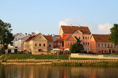 The Trinity Suburb, river Svisloch in Minsk Stock Photos