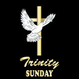 Trinity sunday. Christian church concept. vector illustration