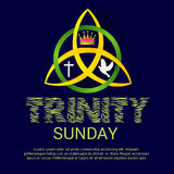Trinity Sunday. Vector illustration of a Banner for Trinity Sunday Stock Images