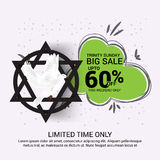 Trinity Sunday. Vector illustration of a Banner for Trinity Sunday Royalty Free Stock Images