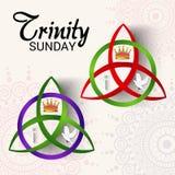 Trinity Sunday. Vector illustration of a Banner for Trinity Sunday Stock Photos