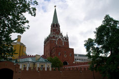 Trinity Tower of the Moscow Kremlin. Stock Image