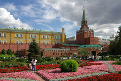 Trinity Tower of Moscow Kremlin Stock Images