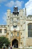 Trinityhögskola i Cambridge arkivbild