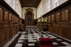 Trinityhögskolakapell i Cambridge Arkivbild