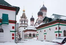 Trinitykyrka i gammala Cheremushki. Moscow. Royaltyfri Foto