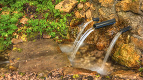 Trinkbares Quellwasser Stockfotografie