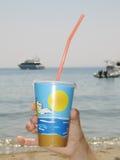 Trinken durch das Meer Lizenzfreie Stockfotos
