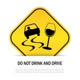 Trinken Sie nicht und fahren Sie lizenzfreie abbildung