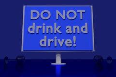 Trinken Sie NICHT und fahren Sie! Stockbilder