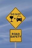 Trinken Sie nicht und treiben Sie an! Stockbilder