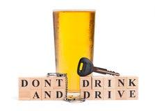 Trinken Sie nicht und treiben Sie an Lizenzfreies Stockfoto