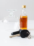 Trinken Sie nicht und treiben Sie an Lizenzfreie Stockfotografie