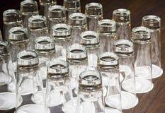 Trinkende Gläser lizenzfreie stockfotos