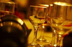 Trinkende Gläser stockfotos