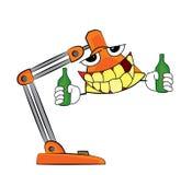 Trinkende Lampenkarikatur Lizenzfreies Stockbild