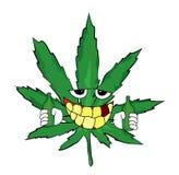 Trinkende Marihuanakarikatur Lizenzfreie Stockbilder