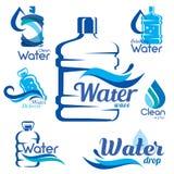 Trinkende Trinkwasserlieferung lizenzfreie abbildung