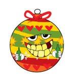 Trinkende Weihnachtsbaum-Spielzeugkarikatur Lizenzfreie Stockfotos