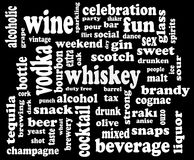 Trinkende Wortsozialwolke Stockfotos