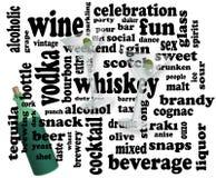 Trinkende Wortsozialwolke Stockfoto