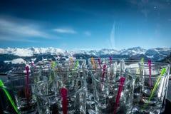 Trinkender Alkohol Apre-Skis stockbild