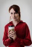 Trinkender Kaffee Lizenzfreies Stockfoto
