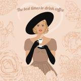 Trinkender Kaffee der Frau vektor abbildung