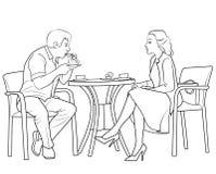 Trinkender Kaffee der Paare Stockfotos