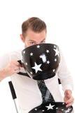 Trinkender Kaffee des Geschäftsmannes Stockfotos