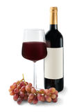 Trinkender Rotwein Lizenzfreies Stockbild