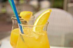 Trinkender Saft Lizenzfreies Stockbild