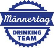 Trinkender Teamdeutscher des Vatertags lizenzfreie abbildung