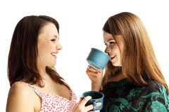 Trinkender Tee Lizenzfreie Stockbilder