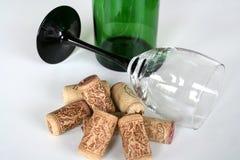 Trinkender Wein Stockfotografie