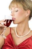 Trinkender Wein Lizenzfreie Stockbilder