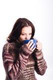 - trinkendes Mädchen Stockbilder